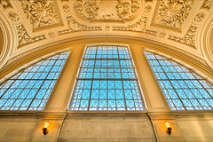 THE GREAT ART OF SAN FRANCISCO INTERIORS (LOURENḉO Photography) Tags: art interior cityhall hall arch glass sanfrancisco bayarea city beautiful stone vintage old wedding law california bay window lombard color sky handmade cathedral park civiccenter center monument