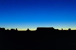 Monument Valley blue hour