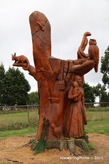Tree-stump Wood Sculptures - Beech Forest Victoria Australia (WanderingPJB) Tags: australia victoria greatoceanroad roadtrip woodsculpture beechforest treestump smileonsaturday madeofwood