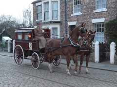 Browney Colliery Ambulance (Terry Pinnegar Photography) Tags: beamish museum costume horse gelderlander ambulance cobbles edwardian colliery browneycolliery