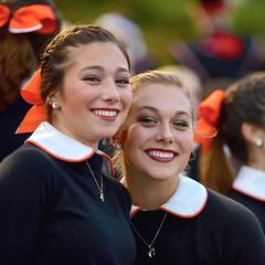 Bethette Smiles (R.A. Killmer) Tags: smile cute faces orange black uniform bow highschool bethelpark football girls ladies