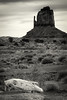 The Left Mitten, Monument Valley, AZ (1mpl) Tags: canoneos20d arizona monumentvalley navajonation themittens rockformations travelphotography bw monochrome niksilverefexpro