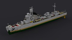 Fullgore Class Destroyer (Backward Matt) Tags: lego ldd lddtopovrayconverter povray render destroyer ww2 wwii worldwartwo ship dcvii backwardmatt mattthebackwardone