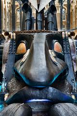 The Navigators (pni) Tags: haysgalleria kinetic bronze sculpture 1987 davidkemp face nose eyes mouth metal uk17 london uk england unitedkingdom pekkanikrus skrubu pni