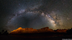 The Milky Way over Mexican Hat, Utah (Alex Polimeni) Tags: milky way panorama canon 6d utah mexican hat united states usa america stars dark sky night nightscape