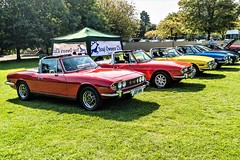 A row of Triumph Stags (John Tif) Tags: 2017 crystalpalace car motorspot triumphstag