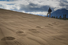 Footprints (andrewpmorse) Tags: carcross sand sanddunes steps footprints yukon yukonterritory landscape landscapes canon 24105f4l leefilters lee09ndgradhard leelandscapepolarizer desert clouds