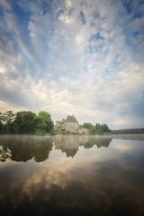 abbaye notre dame de Paimpont (philippe MANGUIN photographies) Tags: paimpont abbaye broceliande foret etang religion ciel reflection nuages bleu