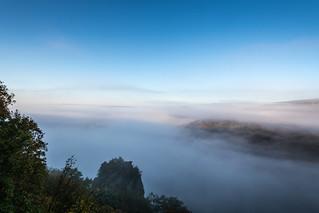 Morgennebel über dem Saartal