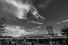 DSC00974 (Damir Govorcin Photography) Tags: clouds people blackwhite sydney manly wharf zeiss 1635mm sony a7ii natural light wide angle