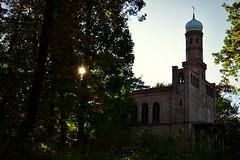 Abendsonne //// evening sun (Pixelchen1) Tags: church kirche trees bäume abendsonne eveningsun herbst autumn nikon5500 nikon1855mmf13556 wannsee berlin