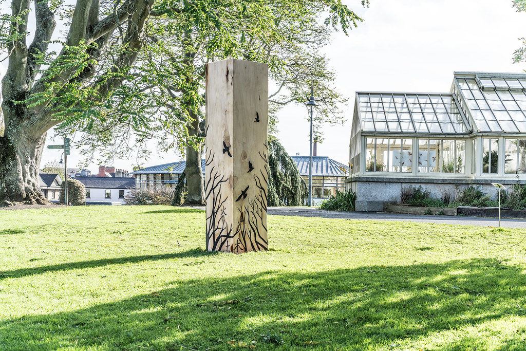 LAST WEEK OF THE SCULPTURE IN CONTEXT 2017 EXHIBITION [PHOTOGRAPHED THE DAY AFTER STORM OPHELIA]-133328