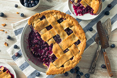 Sweet Homemade Blueberry Pie (brent.hofacker) Tags: background bake baked bakery berry berrypie blue blueberry blueberrypie brown confectionery cooking crust delicious dessert filling food fresh fruit gourmet healthy homemade organic pastry pie piece plate portion purple rustic slice snack sugar summer sweet sweets tart tasty traditional treat wooden