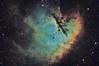 Pacman Nebula - NGC 281 (Manifest Stephanie) Tags: astro pixel processor pixinsight night sky nebula pacman seattle cloud break optics narrowband deep