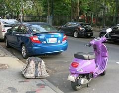 Sunday Colours - The Vespa and the Honda 294/365 (Pushapoze (nmp)) Tags: newyorkcity chelsea thewestside 10thavenue vespa honda purple blue
