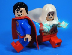 Supes & Shazam!!! (MrKjito) Tags: lego super hero minifig dc comics comic superman shazam captain marvel action lightning custom decal waterslide