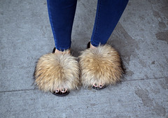 Furry Feet (jeffcbowen) Tags: shoes slippers fur