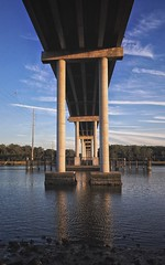 Symmetry Bridge - Man Made Structure Architecture Built Structure Connection Water River Cloud - Sky Below Sky Underneath Pier Outdoors Waterfront Day Architectural Column Transportation Bridge Nature No People (mikedunnit) Tags: bridgemanmadestructure architecture builtstructure connection water river cloudsky below sky underneath pier outdoors waterfront day architecturalcolumn transportation bridge nature nopeople