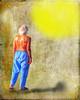 Into the Light .... (daystar297) Tags: streetportrait photoshop oldman crazy fineart nikon nikond90 likeapainting people art imagination sun shadow sunshine bright pajamas shirtless manipulation dream nikonnikkor18200vr