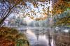 """Abenddämmerung an der Ilz ... Bayrischer Wald (nigel_xf) Tags: gutfeuerschwendt """"bavarian forest"""" """"bayrischer wald"""" niederbayern sunset sonnenuntergang mist fog nebel deutschland germany bayern bavaria """"ferien mit hund"""" """"holiday with dog"""" nikon d750 nigel nigelxf vsfototeam forest wald bäume trees tannen herbst autumn herbstfarben """"autumn colors"""" landschaft landscape berge hügel hills mountains """"neukirchen vorm ilz flus river"""