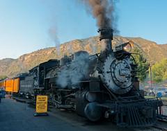 Loco 480 prepares to haul train out of Durango R1003956 Durango & Silverton RR (Recliner) Tags: baldwin dsng drg