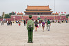 Not the Red Guard anymore... (Ben-ah) Tags: guard beijing china tiananmen tiananmensquare square green police mao