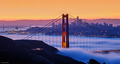 Fog City (Explored) (Joseph Greco) Tags: goldengatebridge sanfrancisco dawn fog city cityscape marinheadlands skyline salesforcetower sunrise