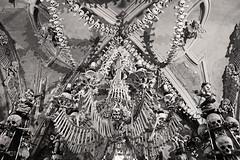 Happy Halloween! (kirstiecat) Tags: thesedlecossuary prague czechia czech churchofbones kostnicevsedlci kutnahora czechrepublic dead death bones skulls halloween monochrome monochromemonday blackandwhite noiretblanc shadows