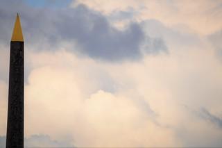 El Obelisco y sus nubes