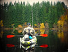 Contemplating (Nicolas Valentin) Tags: scotland fishing kayakfishing loch lochard ard autumn