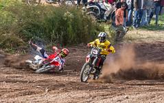Losing It At the Start (John Kocijanski) Tags: motorcycle vehicles hillclimb race sport people canon70300mmllens canon7d dirtbike