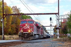 CSXT K602 @ Yardley, PA (Darryl Rule's Photography) Tags: 2017 bnsf buckscounty cp csx csxt canadianpacific catenary crudeoil diesel diesels dobryrd edgewoodrd fall freight freightcar freighttrain freighttrains ge k138 k602 november oil oiltrain oiltrains oxfordvalley pa pennsylvania qa296 railroad railroads septa signal sun sunny tankcar tankcartrain tankcars tankers telephoto train trains trentonsub westbound yardley
