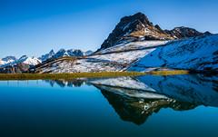 Kleinwalsertal, Österreich / Austria: Kanzelwand (CBrug) Tags: kleinwalsertal österreich austria kanzelwand riezlern kanzelwandbahn trettachspitze mädelegabel berg wasser teich landschaft see heiter himmel felsen abhang