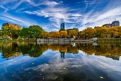 Esplanade Reflections ((Jessica)) Tags: reflections autumn nature massachusetts newengland fall tree trees foliage boston colorful esplanade clouds