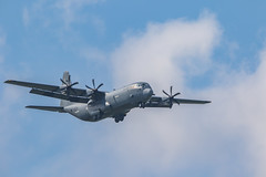 U.S. Air Force C-130 (royhale71) Tags: c 130 airplane airport military air force us usa sky propeller wheel tire plane grey cloud springfieldmissouri 09252017 september 2017 hercules canon 7d mark ii