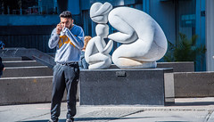 2017 - Montreal - La Tendresse by Paul Lancz (Ted's photos - For Me & You) Tags: 2017 canada cropped montreal nikon nikond750 nikonfx tedmcgrath tedsphotos vignetting quebec montrealquebec tenderness tendernesssculpture marblesculpture paullancz sculpture publicart male man streetscene street latendresse paullancztendresse shadow cans2s people peopleandpaths ca
