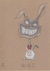Hugh has 72 ..... (Klaas van den Burg) Tags: humor horror hughheffner color absurd surreal pencil kinderboekenweek