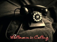 Halloween is Calling (PhotoJester40) Tags: indoors inside oldphone sepia creative oldfashioned phone amdphotographer halloween