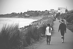 in step (Paul J's) Tags: taranaki newplymouth girls girl coastalwalkway