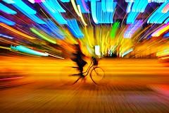 City pulse #3 (Birdhouse camper) Tags: copenhagen denmark color zoom panning street light fujifilm fuji fujixt2 xt2 blur