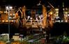 Genova - Porto Petroli (tjreboot) Tags: genova porto petroli oil boat boats cargo harbor docks night dark black light lights gloom nikon d7500 apsc nikkor 200 f 4 ai vintage digital
