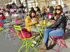 2017-11-01  Paris - Parc Rives de Seine - Quai de l'Hôtel de Ville - Pont Louis Philippe (P.K. - Paris) Tags: paris novembre 2017 people candid street café terrasse terrace