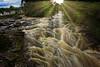 Falls of Dochart (jay_kilifi) Tags: water waterfall rushing flowing river bridge village scotland peat hdr flow cascade brown green rocks wet lochtay