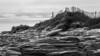 contre plonger de cette clôture (Rudy Pilarski) Tags: nikon tamron d7100 18270 paysage landscape cloture voyage travel nb bw bretagne france rocher pierres rock stone nature monochrome pointe seascape quibron sea water