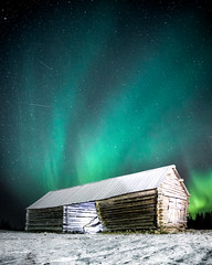 There is a light (R.J. Photography) Tags: auroraborealis nightsky starrynight northernlights sweden nikon d750 longexposure