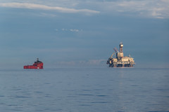 Scarabeo Standby (SPMac) Tags: scarabeo 8 saipem arctic circle barents sea norway eni norge goliat fpso 71227 floating production storage oil gas esvagt aurora errv emergency rescue response recovery vessel standby coast