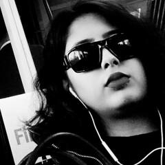 Monday; Commuting (Darryl Scot-Walker) Tags: street portrait streetportrait candid covert covertlondon cameraphone streetphotography commuting commuter transport londonstreetphotography publictransport woman sunglasses headphones blackandwhite highcontrast grain londoners commuters nexusp6 monochrome