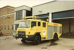DodgeRG13 /Carmichael CrT London City Airport (petros.williams@btinternet.com) Tags: dodgerg13 carmichael crt londoncityairport fire3 unipower yellowfireengine crashtender
