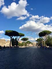 Fori imperiali (ioriogiovanni10) Tags: bellezza camminare photo iphone anfiteatroflavio coliseum panorama foriimperiali strada gladiatore turista passeggiata azzurro cielo nuvole street roma colosseo cittàeterna anticaroma città sky rome