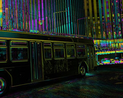 """The """"Harry Potter"""" bus through town? (Thiophene_Guy) Tags: thiopheneguy originalworks xz1 olympusxz1 camerawrappedinbreadbagtapedclosedarounduvfilter colour colors colours rainbow color surreal thsfeset harrisshutter effect rainbowcolors kinetic dynamic dynamism action motion movement aleatoric subtractivefilter subtractivefilterhse subtractivedifferenceharrisshuttereffect negativespace utata:project=mystery"""